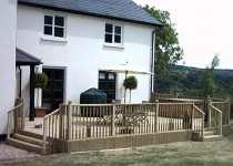 Garden Timber Decking, Blamphayne Sawmills Devon